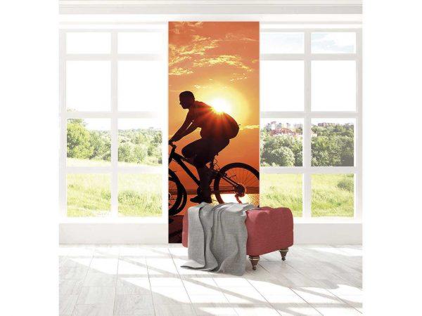Cenefa Vertical Ciclista al Atardecer | Carteles XXL - Impresión carteleria publicitaria