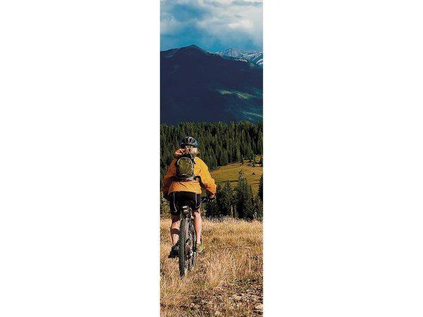 Cenefa Vertical Ciclista de Montaña | Carteles XXL - Impresión carteleria publicitaria