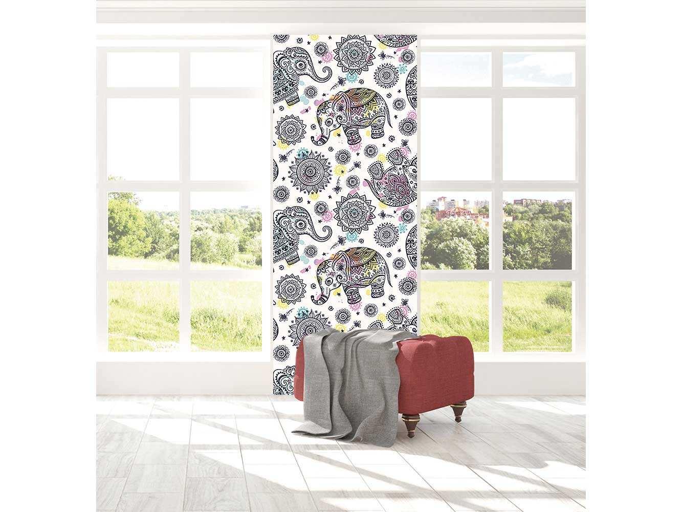 Cenefa Vertical Elefante Abstracto   Carteles XXL - Impresión carteleria publicitaria