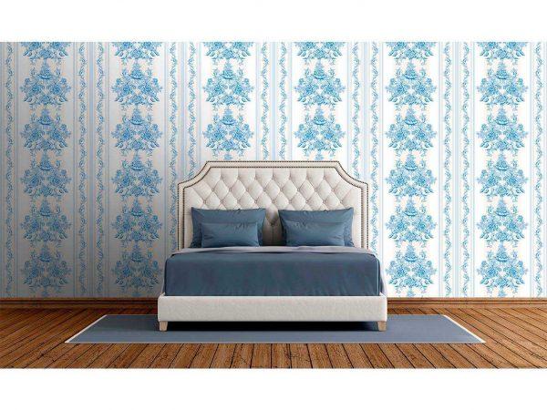 Fotomural Vinilo Zen Columna Flor Azul   Carteles XXL - Impresión carteleria publicitaria