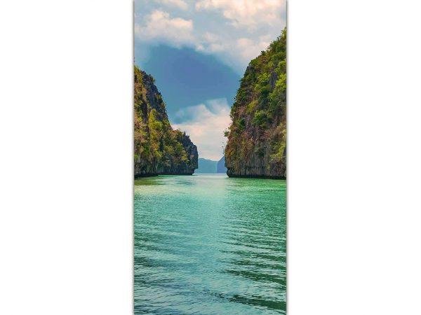 Cenefa Vertical Playa Paradisíaca | Carteles XXL - Impresión carteleria publicitaria