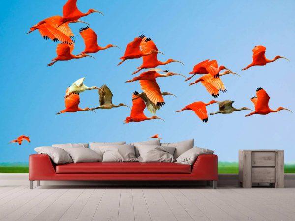 Fotomural Vinilo Ibis en Vuelo | Carteles XXL - Impresión carteleria publicitaria