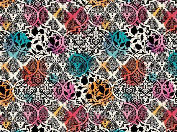 Fotomural Papel Pintado Punk Multicolor Floral | Carteles XXL - Impresión carteleria publicitaria