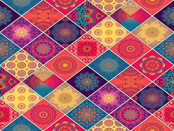 Alfombra PVC Geometría Mandala | Carteles XXL - Impresión carteleria publicitaria
