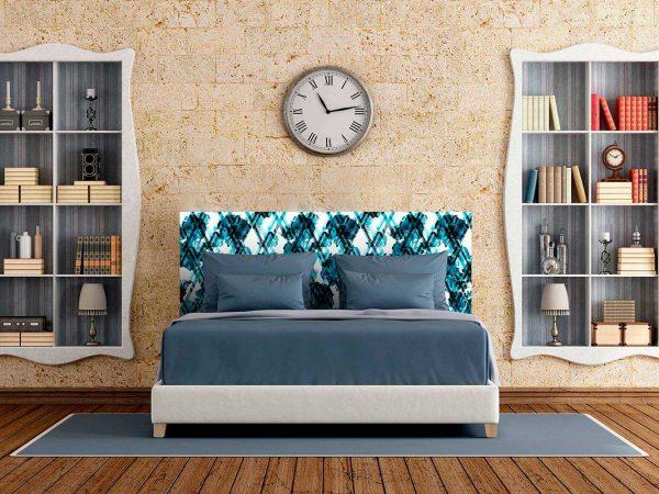 Cabecero Cama Flores Azul Marino | Carteles XXL - Impresión carteleria publicitaria