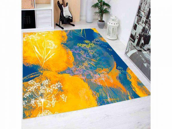 Alfombra PVC Flores Abstractas De Color | Carteles XXL - Impresión carteleria publicitaria