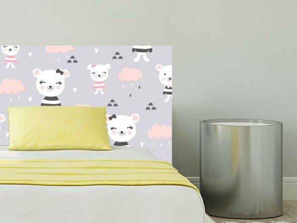 Cabecero Cama Infantil Ositos Nubes | Carteles XXL - Impresión carteleria publicitaria