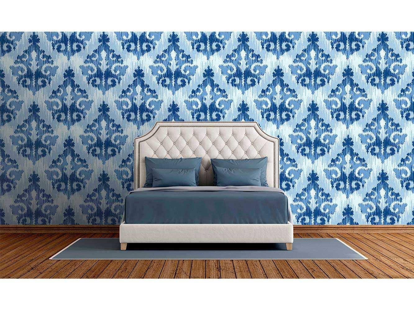 Fotomural Vinilo Zen Rombo Efecto Pintura Azul | Carteles XXL - Impresión carteleria publicitaria