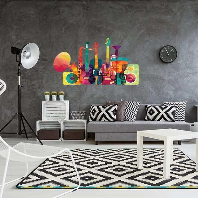 Vinilo Decorativo Instrumentos Colores | Carteles XXL - Impresión carteleria publicitaria