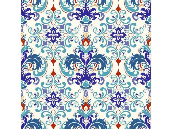 Cabecero Cama Flor Abstracta Azul | Carteles XXL - Impresión carteleria publicitaria