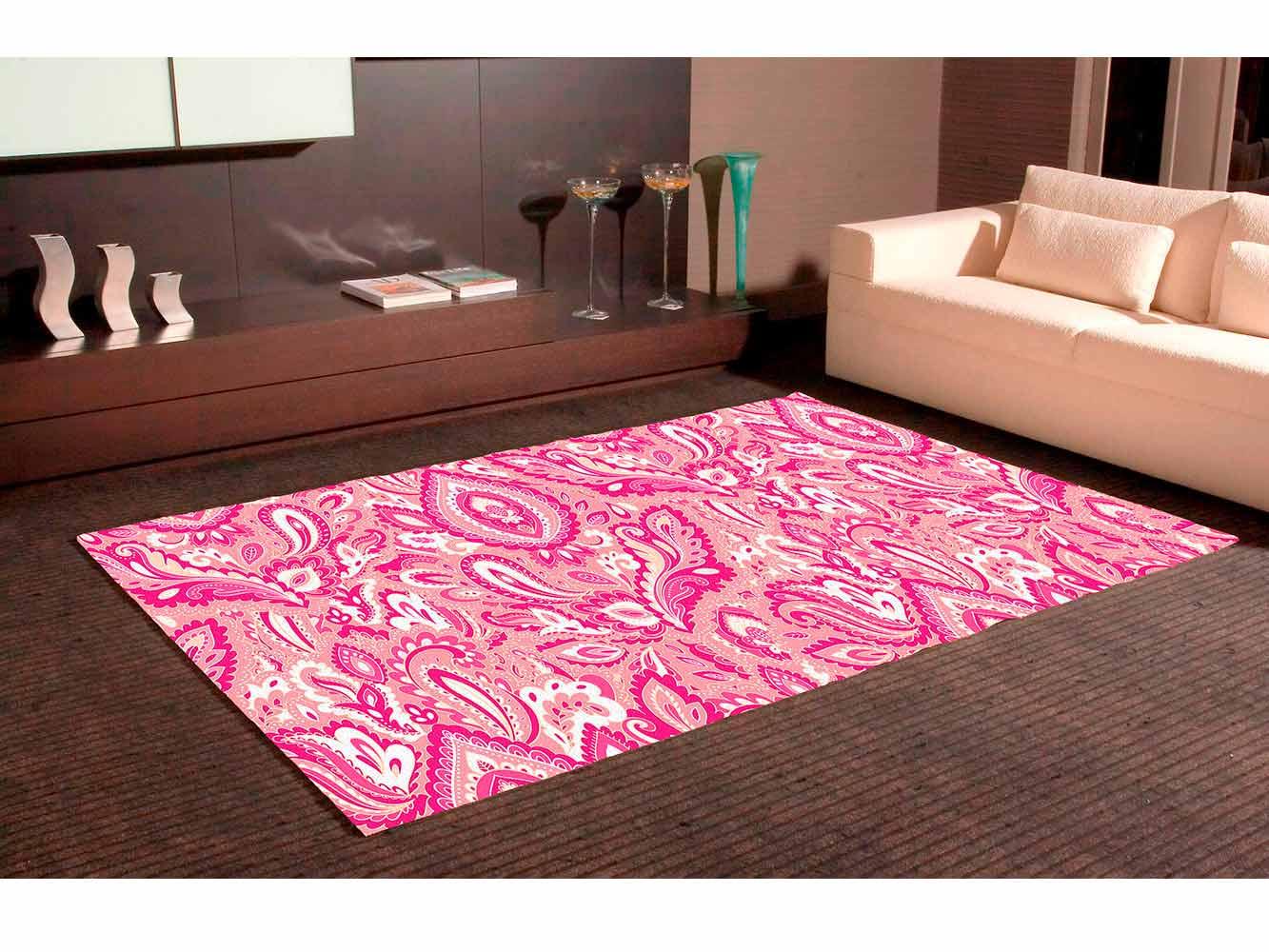 Alfombra PVC Estampado Paisley Rosa   Carteles XXL - Impresión carteleria publicitaria