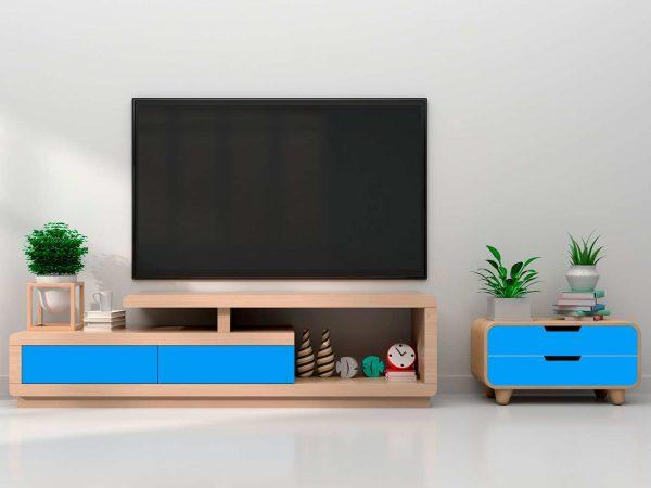 Vinilo Decorativo Mueble Azul | Carteles XXL - Impresión carteleria publicitaria