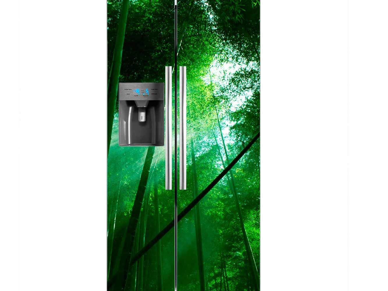 Vinilo Frigorífico Bosque Bambú | Carteles XXL - Impresión carteleria publicitaria