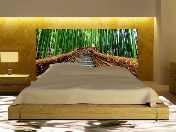 Cabecero Cama Camino Bambú   Carteles XXL - Impresión carteleria publicitaria