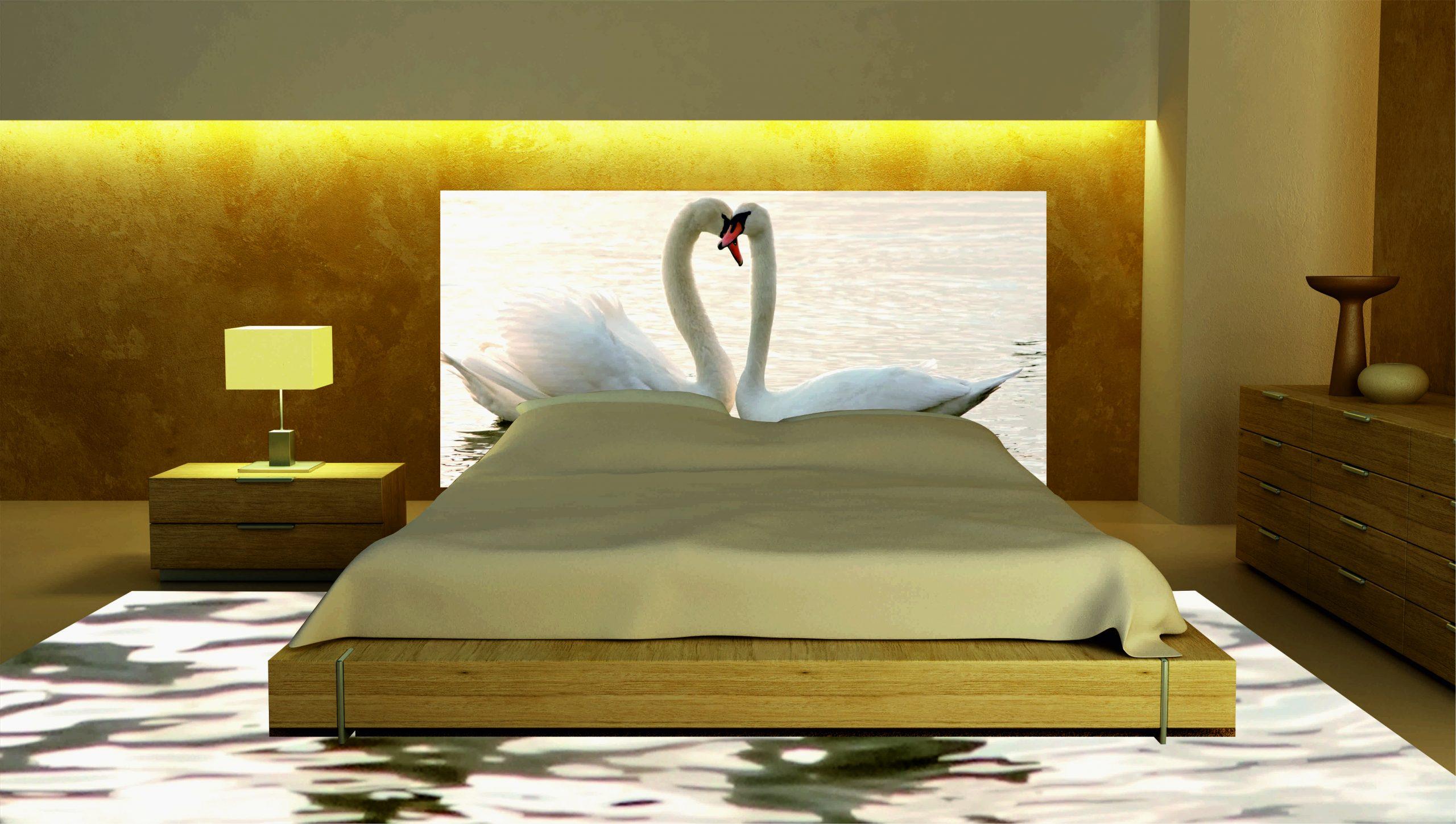 Cabecero Cama Cisnes Blancos | Carteles XXL - Impresión carteleria publicitaria