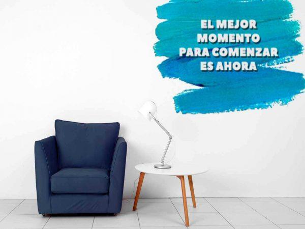 Vinilo Decorativo El Mejor Momento es Ahora | Carteles XXL - Impresión carteleria publicitaria