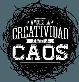 Vinilo decorativo la creatividad se parece al caos | Carteles XXL - Impresión carteleria publicitaria