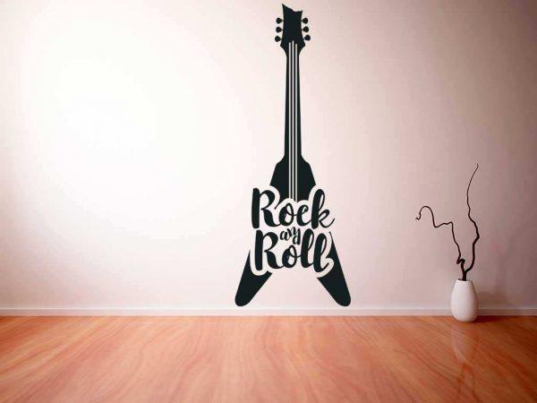 Vinilo decorativo guitarra eléctrica V   Carteles XXL - Impresión carteleria publicitaria