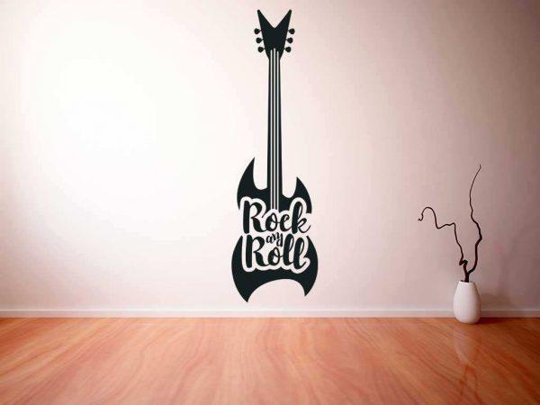 Vinilo decorativo guitarra electrica   Carteles XXL - Impresión carteleria publicitaria