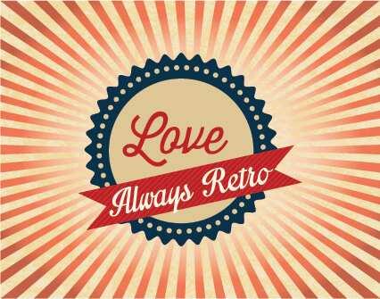 Vinilo Decorativo Retro Love Retro | Carteles XXL - Impresión carteleria publicitaria