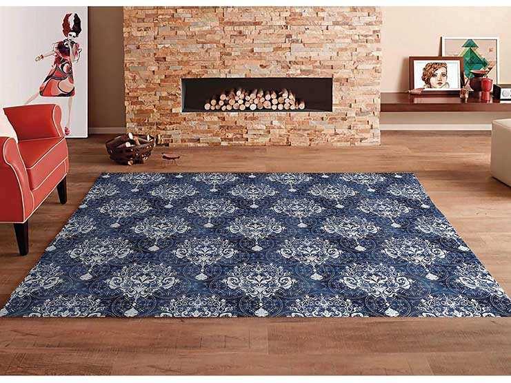 Alfombra PVC Motivo Tapiz Azul | Carteles XXL - Impresión carteleria publicitaria