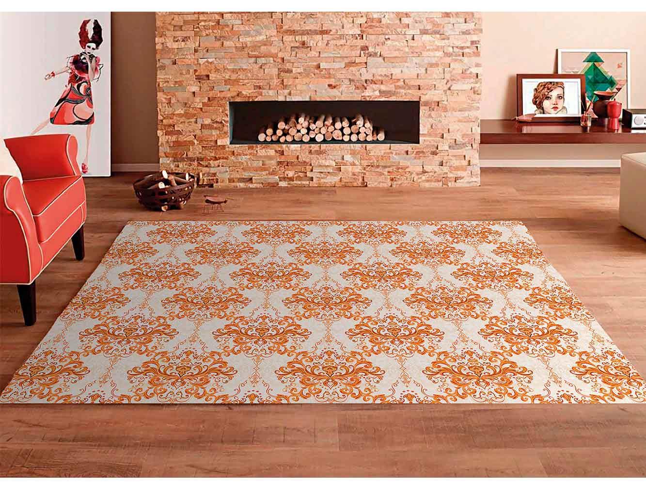 Alfombra PVC Mosaico Elemental Naranja | Carteles XXL - Impresión carteleria publicitaria