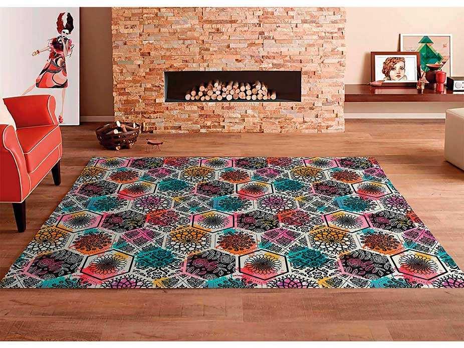 Alfombra PVC Mosaico Colorido Hexagonal | Carteles XXL - Impresión carteleria publicitaria