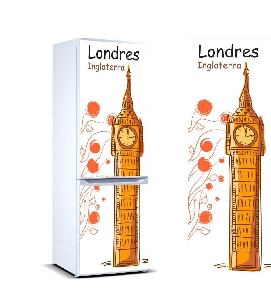Vinilo Frigorífico Londres | Carteles XXL - Impresión carteleria publicitaria