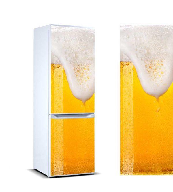 Vinilo Frigorífico Cerveza Espuma | Carteles XXL - Impresión carteleria publicitaria