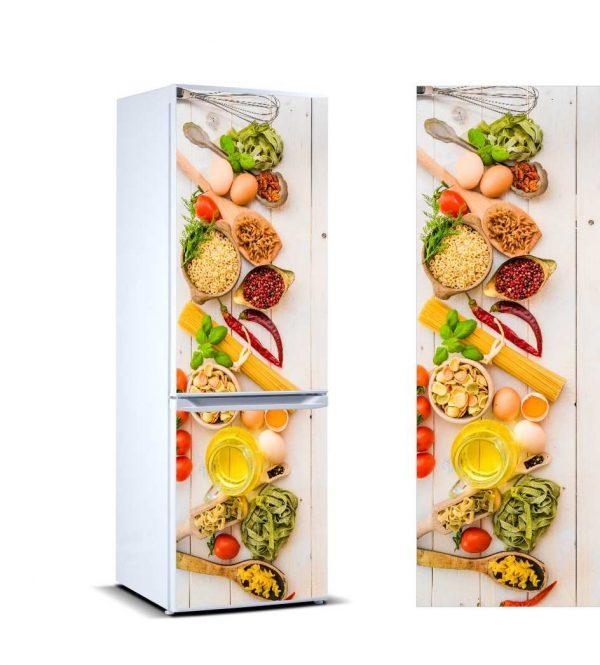 Vinilo Frigorífico Alimentos Sanos | Carteles XXL - Impresión carteleria publicitaria