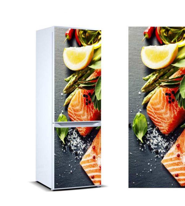 Vinilo Frigorífico Salmón | Carteles XXL - Impresión carteleria publicitaria