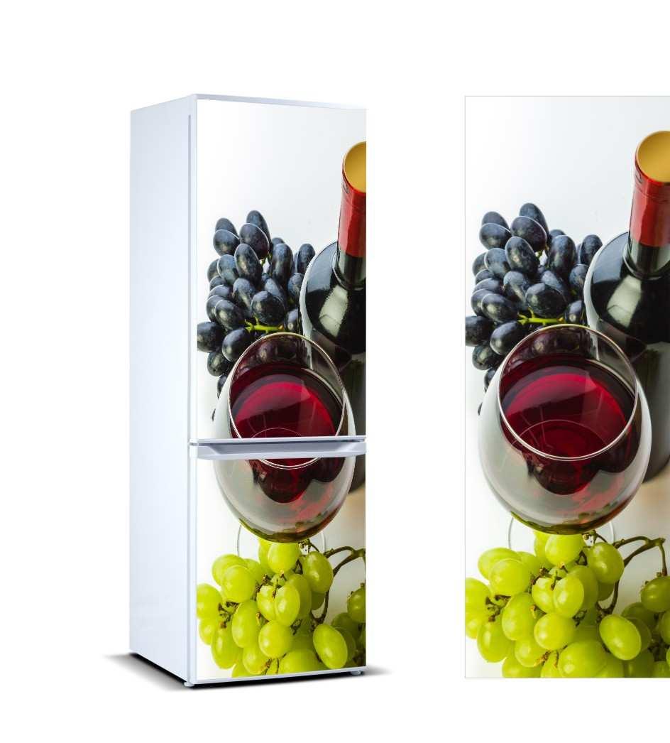 Vinilo Frigorífico Uvas Y Vino | Carteles XXL - Impresión carteleria publicitaria