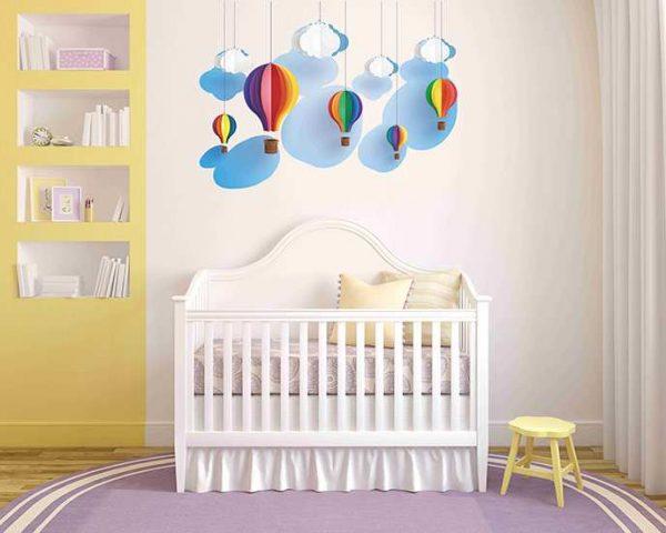 Vinilo decorativo pared 3D globos   Carteles XXL - Impresión carteleria publicitaria