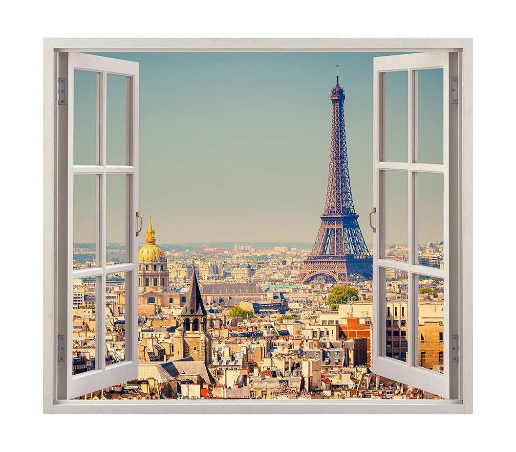 Vinilo Ventana Paris | Carteles XXL - Impresión carteleria publicitaria