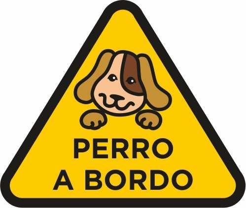 Vinilo Pegatina Perro a Bordo amarillo | Carteles XXL - Impresión carteleria publicitaria