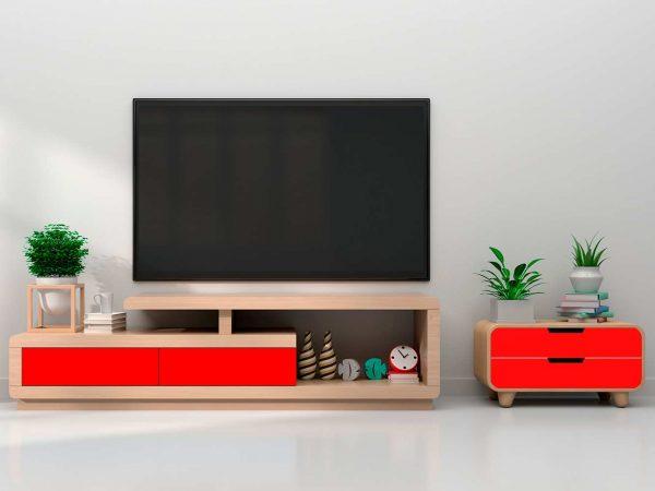 Vinilo Decorativo Mueble Rojo | Carteles XXL - Impresión carteleria publicitaria