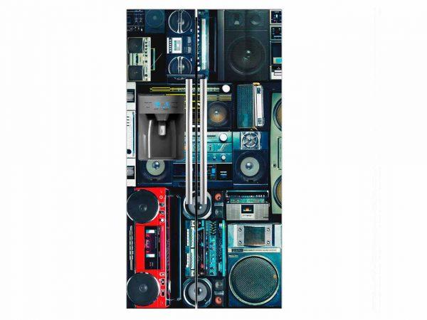 Vinilo Frigorífico Americano Radio Casete | Carteles XXL - Impresión carteleria publicitaria