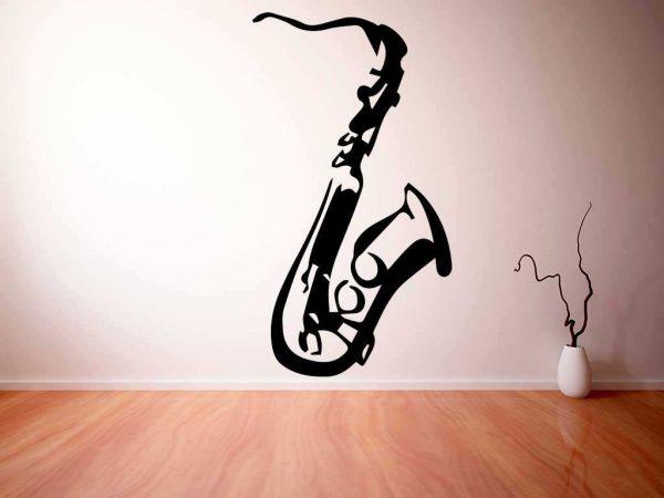 Vinilo decorativo saxofón | Carteles XXL - Impresión carteleria publicitaria