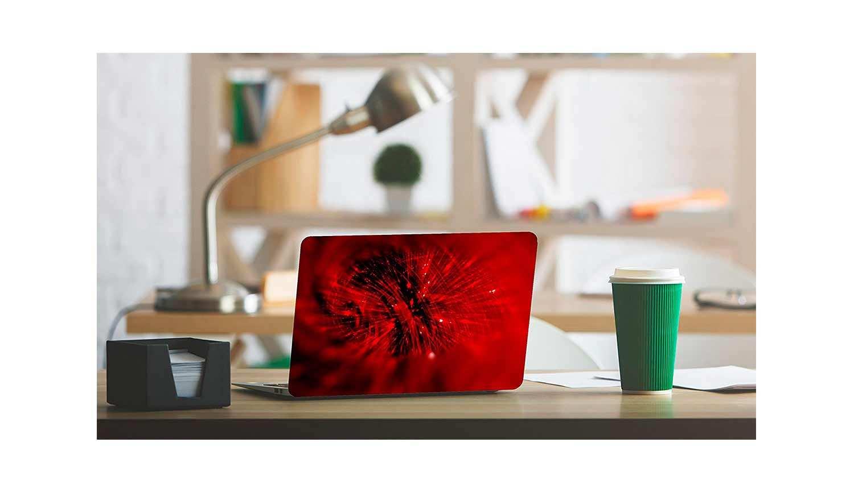 Vinilo Adhesivo para PC Portátil Rojo   Carteles XXL - Impresión carteleria publicitaria