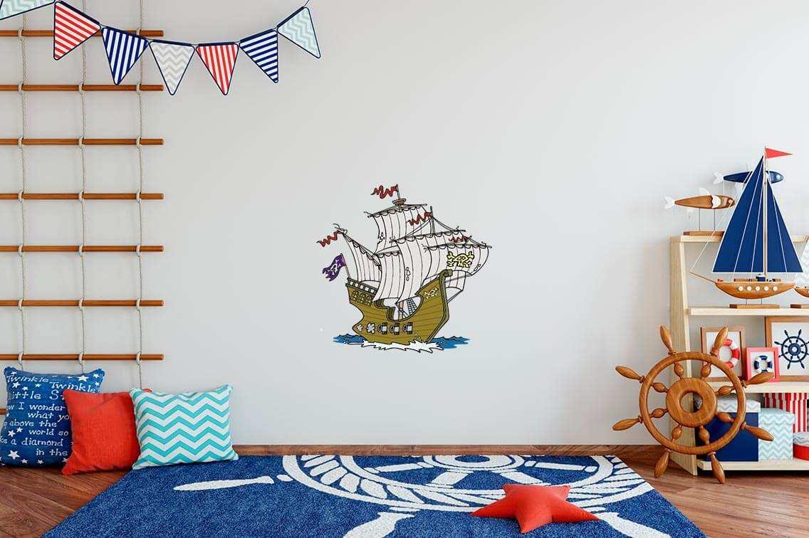 Vinilo Decorativo Infantil Barco Pirata | Carteles XXL - Impresión carteleria publicitaria