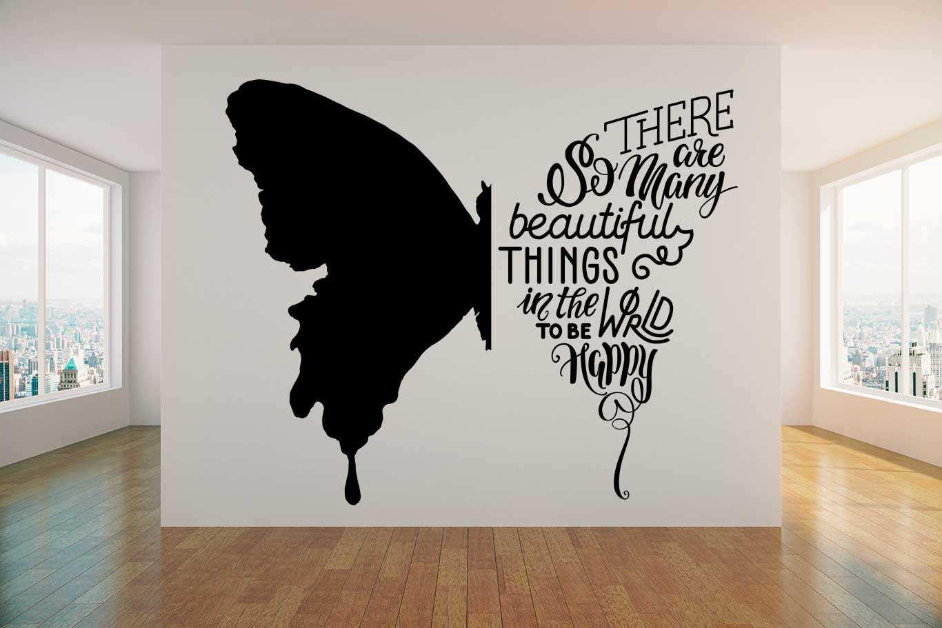 Vinilo decorativo mariposa tipográfica | Carteles XXL - Impresión carteleria publicitaria