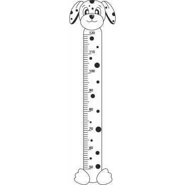 Vinilo Decorativo Medidor Infantil Perro | Carteles XXL - Impresión carteleria publicitaria