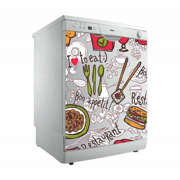 Vinilo Decorativo para Lavavajillas I Love Eat | Carteles XXL - Impresión carteleria publicitaria