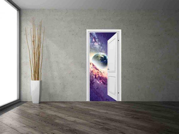 Vinilo Decorativo Puerta Galaxia   Carteles XXL - Impresión carteleria publicitaria