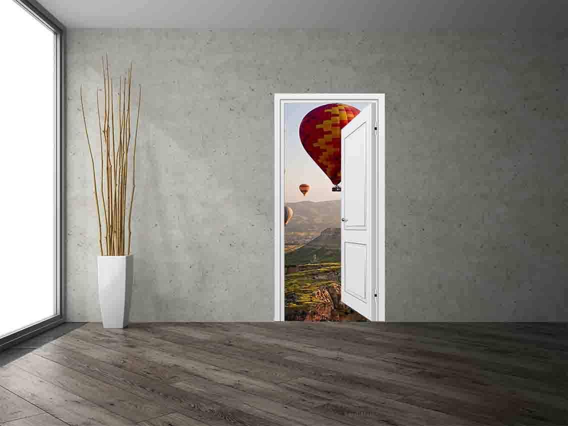 Vinilo Decorativo Puerta Globos | Carteles XXL - Impresión carteleria publicitaria
