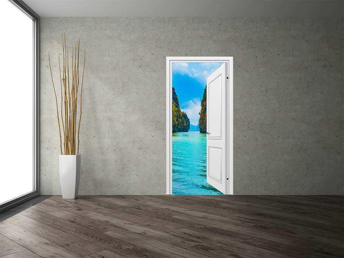 Vinilo Decorativo Puerta Mar | Carteles XXL - Impresión carteleria publicitaria