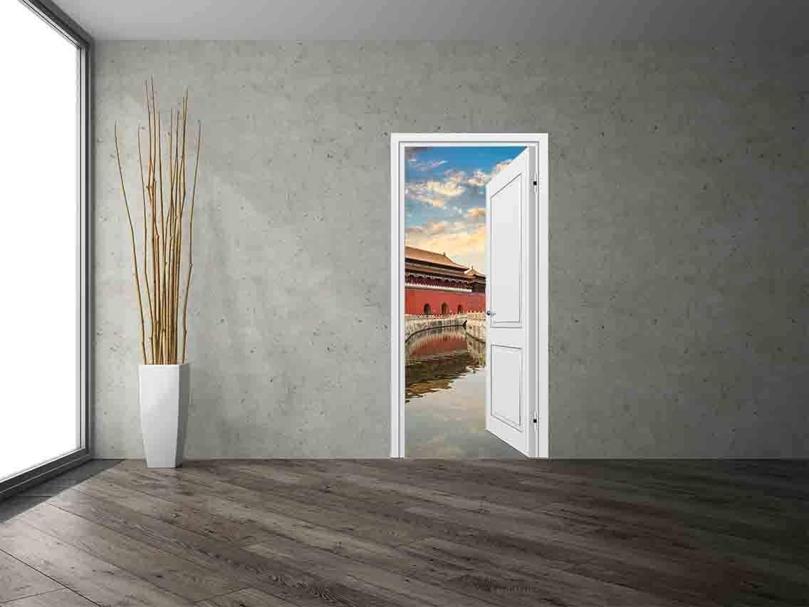 Vinilo Decorativo Puerta Oriental | Carteles XXL - Impresión carteleria publicitaria