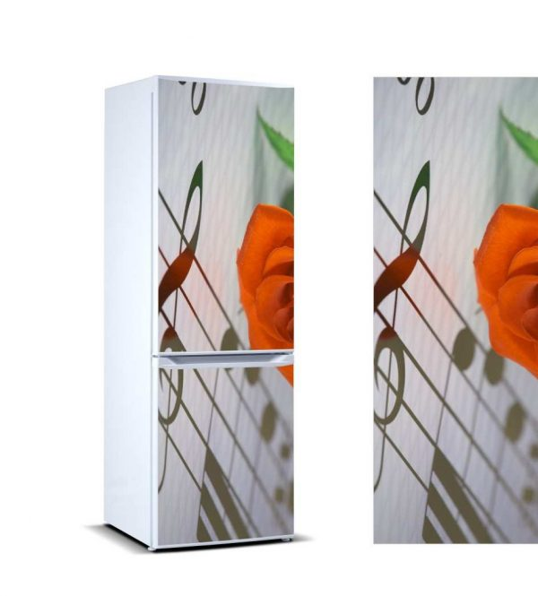 Vinilo Frigorífico Clave de Sol Rosa | Carteles XXL - Impresión carteleria publicitaria