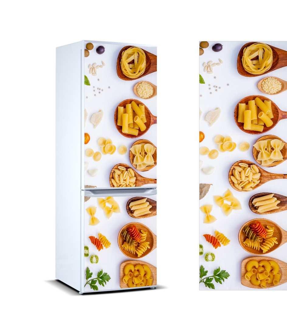 Vinilo Frigorífico Pastas Cucharas Madera | Carteles XXL - Impresión carteleria publicitaria