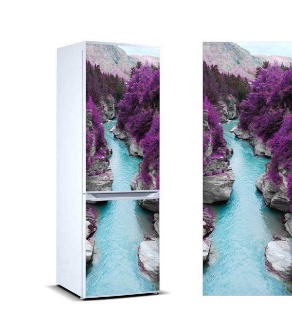 Vinilo Frigorífico Río Vegetación Morada | Carteles XXL - Impresión carteleria publicitaria